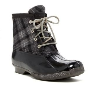 Sperry Saltwater Duck Boot in Plaid